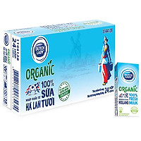 Thùng 24 Hộp Sữa Tươi Tiệt Trùng Dutch Lady Cô Gái Hà Lan Organic (24X200ml)
