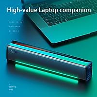 Loa mini có dây Inphic US1 Âm thanh vòm stereo ánh sáng LED xung quanh cho máy tính bàn máy laptop tivi - Hàng chính hãng