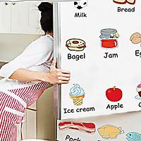 Decal trang trí tủ lạnh tiếng anh am7090