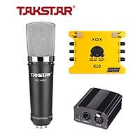 Combo mic thu âm Takstar PC K600, Soundcard K10 - HÀNG CHÍNH HÃNG