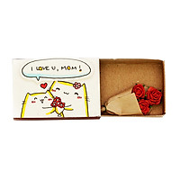 Thiệp Gia Đình Hộp Diêm I Love You Mom OT029