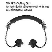 Tai nghe bluetooth không dây thiết kế thể thao đeo cổ. Thiết kế tinh tế sang trọng, dây đàn hồi mic to rõ âm M12 -dc3528