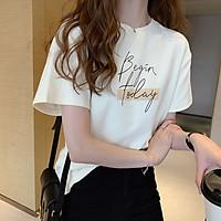Áo phông thun thời trang nữ in chữ freesize chất vải mềm phong cách