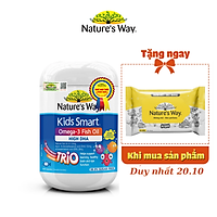 Viên Uống Dầu Cá Nature's Way Omega-3 Fish Oil Trio Giúp Bổ Sung DHA Phát Triển Trí Tuệ Cho Bé 60 Viên