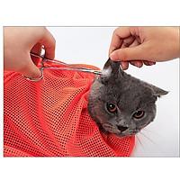 Túi Lưới Đa Năng Hỗ Trợ Tắm Cho Mèo - Cắt Móng Vệ Sinh Tai Groming Cho Mèo