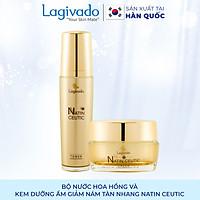 Bộ đôi trẻ hóa da, giảm nám tàn nhang Hàn Quốc Lagivado Natin Ceutic (Toner Ceutic 120 ml + cream Ceutic 50g)