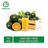 [Chỉ Giao HCM] Túi 5Kg - Cam Kiến Vàng Vĩnh Long - Loại Vắt Nước (7-8 quả/kg) - Foodmap