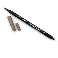 Bút lông hai đầu màu nước Marvy LePlume II 1122 - Brush/ Extra fine tip - Taupe (84)