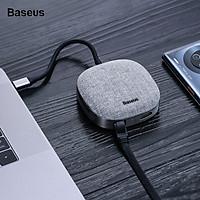 Hub chuyển đổi đa năng Baseus Fabric Series 7 in 1 Type-C Multifunctional HUB Adapter (2TB Data Reading, USB 3.0, Gigabit Network, 4k30hz, SD/TF, RJ45) - Hàng chính hãng