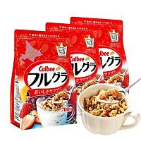 Set 03 túi ngũ cốc trái cây ăn liền Calbee (gói đỏ) - Loại 700gr - Nhập khẩu Nhật Bản