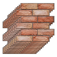 3 Dimension Red Brick Water-resistant Moistureproof Removable Self Adhesive Wallpaper Peel & Stick PVC Wall Stickers for