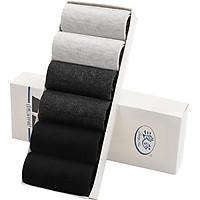 Langsha socks men's cotton tube mesh cotton socks spring and summer ultra-thin breathable socks black 2 dark gray 2 light gray 2