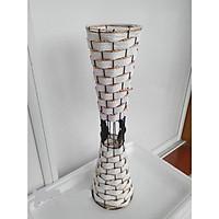 Bình hoa trắng trí bằng Mây trắng cao 55cm
