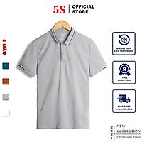 Áo Thun Nam Polo Ngắn Tay 5S (APC21013) Chất Liêu 100% Coolmax Phối Viền Năng Động, Trẻ Trung, Nam Tính
