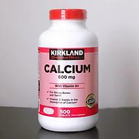 Thực phẩm chức năng Viên uống bổ sung canxi Kirkland calcium 600mg + d3 - hộp 500