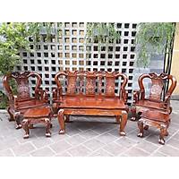 Bộ bàn ghế salon gỗ Lim Đen Tựa Tứ Linh