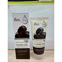 Gel Tẩy Tế bào Chết Than - Ekel Natural Clean Peeling Gel Charcoal 100ml (Tặng 2 mặt nạ Jant Blanc)