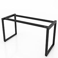 Chân bàn làm việc NVCN003 sắt hộp 25x50 lắp ráp kích thước 140 x 70 x 75 (cm)