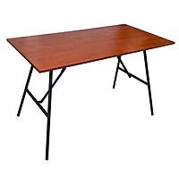 Bàn làm việc ARGON gỗ cao su, chân gấp gọn, màu nâu cánh gián 120x60x75cm
