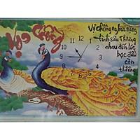 tranh đính đá Đông Hồ Vợ Chồng ( Công Vàng) 77388 kt 92*60 cm chưa đính