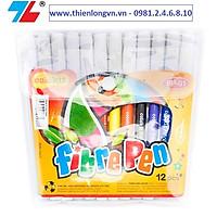 Bút lông 12 màu Thiên Long; Colokit FP-01