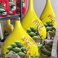 Bộ 3 bình hoa gốm Bát Tràng vẽ tay cao cấp