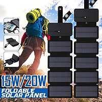 20W Outdoor Sunpower Foldable Solar Panels Cells Portable Solar Mobile Battery with USB Port for Outdoor Phone Chargin