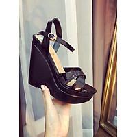 Giày sandal đế xuồng cao 12p