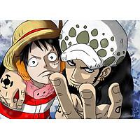 Poster A3 dán tường Anime, decal 30x42 trang trí có keo one piece wallpaper 26