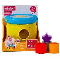 Đồ chơi phát triển tư duy - vận động tinh cho bé: Trống thả hình khối có đèn nhạc phát triển giác quan - Winfun 0748 - tặng đồ chơi tắm