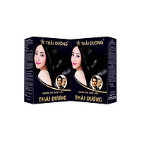 Combo 2 Hộp NHUỘM TÓC DƯỢC LIỆU THÁI DƯƠNG (Hộp 5 gói nhỏ) - An toàn, không kích ứng, đem lại hiểu quả cao, tóc bền màu, hương thơm dịu nhẹ