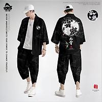 Set đồ Haori nam Kimono Yunhe Jiuxiao phong cách Nhật Bản siêu chất BSK04