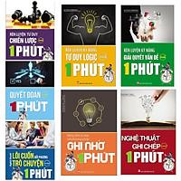 Combo bộ  7 cuốn sách rèn luyện kĩ năng tư duy : Rèn Luyện Tư Duy Chiến Lược Trong 1 Phút + Rèn Luyện Kĩ Năng Tư Duy Logic Trong 1 Phút + Rèn Luyện Kỹ Năng Giải Quyết Vấn Đề Trong 1 Phút + Quyết Đoán Trong 1 Phút +  Nghệ Thuật Lôi Cuốn Đối Phương Trò Chuyện Trong 1 Phút +  Nâng Tầm Tư Duy Với Phương Pháp Ghi Nhớ 1 Phút + Nghệ Thuật Ghi Chép Trong 1 Phút ( Tặng kèm Bookmark Happy Life)