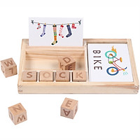 Gotoamei Wooden English Spelling Alphabet Letter Game Early Learning Educational Toy Kids