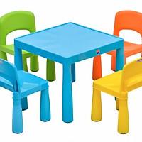 Bộ bàn ghế trẻ em gấp gọn - Màu ngẫu nhiên