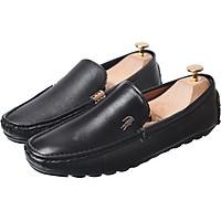 Giày Mọi Da Trơn Đính Khuy Cá Sấu GL12 Sang Trọng Cho Quý Ông