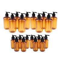20 Pcs Empty Pump Shampoo Lotions Container Refillable Body Wash Gel Bottle