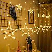 Đèn LED ngôi sao dạng treo rèm cửa dài 3m