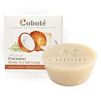 Xà bông dừa Tẩy tế bào chết Coboté - Hương dừa -Handmade - 100% thiên nhiên - Công thức dừa toàn phần
