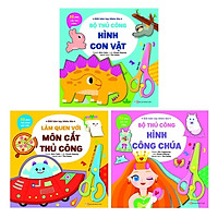 Bộ Sách Dành Cho Trẻ Từ 5 Tuổi: Đôi Bàn Tay Khéo Léo - Tặng Kèm Chiếc Kéo An Toàn (Bộ 3 Cuốn)
