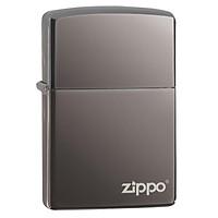 Bật Lửa Zippo Black Ice (Dark Chrome) With Zippo Logo 150ZL