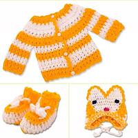 Set áo len kèm bao tay + nón Gấu cho bé sơ sinh_bobo