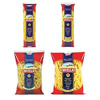 Combo 4 Sản Phẩm Mì Spaghetti 08 + Mì Sợi Dẹt Linguine 14 + Nui Penne 27 + Nui Fusilli 40 Divella Italia