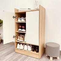 Tủ giày gỗ thông minh Multi 4F hiện đại phòng khách/ngủ GP108.41