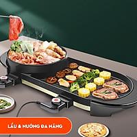 Bếp lẩu nướng BQQ 2 trong 1 đa năng chống dính công suất lớn tiết kiệm điện năng dễ vệ sinh