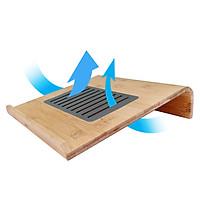 Giá Đỡ Laptop, Kệ Đỡ Laptop Macbook Làm Bằng Gỗ Tre Kết Hợp Inox 304 Hỗ Trợ Tản Nhiệt và Thân Thiện Môi Trường, Chống Mỏi Cổ, Vai Gáy - Hàng Việt Nam sản xuất