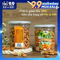 Hạt Hạnh Nhân Mỹ Tách Vỏ Smile Nuts (265g - 500g)   Hạnh nhân nhập khẩu từ Mỹ, nướng mộc giòn rụm, thơm ngon