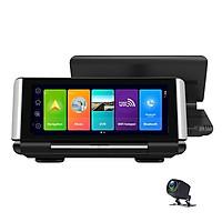 Camera hành trình tích hợp cam lùi đặt taplo ô tô, xe hơi K7 cao cấp 4G, wifi, kích thước màn hình 7 inch
