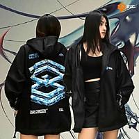 Áo KHOÁC DÙ 2 LỚP unisex form rộng cặp đôi ulzzang Hàn Quốc dành cho nam nữ, Áo khoác dù 2 lớp màu đen có nón Glean local brand ONTOP JACKET cho nam nữ cho cặp đôi,Áo khoác dù unisex Glean Mark 2 local brand ONTOP