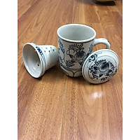 Bộ cốc lọc trà gốm sứ Gia Hưng Bát Tràng